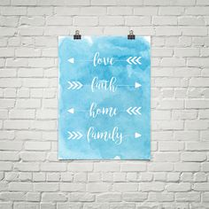 To us, this is what it's all about! The heart of the Freedom Family Creative is to share our lives with those we love, and to surround ourselves with the good feelings of home and family! May this lovely print hang proudly in your home to be a reminder of these precious things.  Love - Faith - Home - Family  Product Info: Our museum quality posters are made of thick, durable, archival, acid-free matte paper. They are handled individually, and wrapped in tissue paper for added protection.
