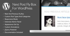Next Post Fly Box For WordPress is a WordPress plugin that creates navigation between next and previous post as a floating pop-up box on the left or right side of the window. When the user scroll the page a fly box is showing, allowing the user to select next or previous post based on conditions set in the plugin options panel.