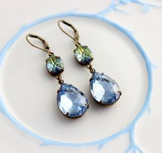 Hey, I found this really awesome Etsy listing at https://www.etsy.com/listing/175514459/blue-ice-earrings-blue-earrings-blue-and