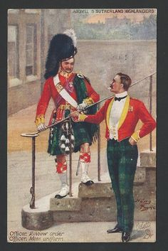 Vintage Postcard ~ Argyll and Sutherland Highlanders.
