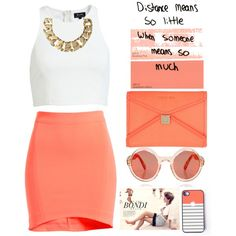 """""""coral :)"""" by mmilena-98 on Polyvore"""