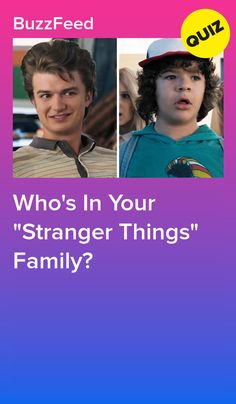 """Who's In Your """"Stranger Things"""" Family? Buzzfeed Stranger Things, Stranger Things Quiz, Stranger Things Characters, Stranger Things Aesthetic, Life Quizzes, Quizzes For Fun, Disney Quiz, Disney Facts, Disney Movies"""