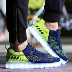 2016 men Flashing lovers LED shoes casual shoes black and white breathable shoes Color changing led light up rechargeable shoes