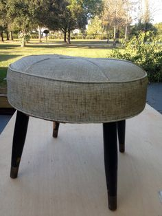 Vintage Mid Century Foot Stool Needs Love by modernlogic on Etsy, $20.00