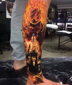 fire/explosion tattoo idea