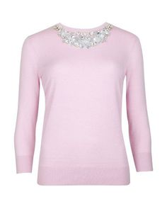 Silk cashmere mix sweater - Baby Pink | Knitwear | Ted Baker UK by jennie