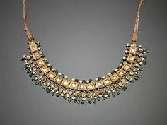 An Indian diamond-set gold Necklace. Jaipur, 19th Century
