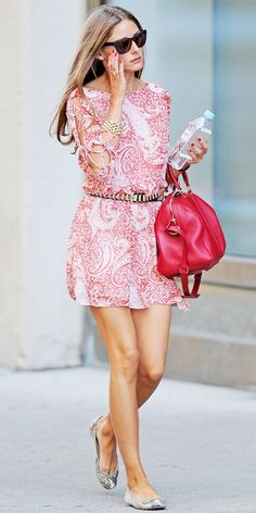 olivia Palermo street style : parsley dress