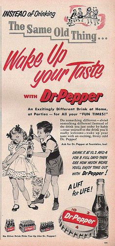 I think it's hilarious how this ad tells you to drink 3 bottles of Dr. Pepper…