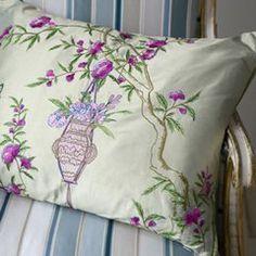 Rosa Amethyst Throw Pillow ............24 x 18  Price : $225.00 http://www.benfleetinteriors.com/Rosa-Amethyst-Throw-Pillow-24/dp/B007H1E74K