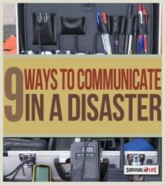 Disaster Communication for Preppers | Emergency preparedness tips at http://survivallife.com #emergencypreparedness #disasterpreparedness #survival