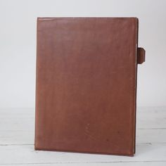 Gift Idea for Men or Professionals: Leather Padfolio Notepad - smooth leather cover can be embossed with company logo - by Blue Sky Papers