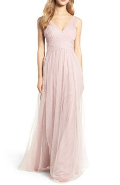 51e17988356fe Free shipping and returns on Hayley Paige Occasions Illusion Gown at  Nordstrom.com. A