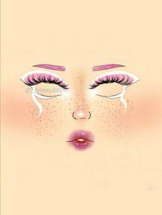 Punk Makeup, Anime Makeup, Edgy Makeup, Grunge Makeup, Eye Makeup Art, Makeup Inspo, Eyeshadow Makeup, Graphic Makeup, Peach Makeup
