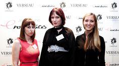 Alexia Portin, fondatrice du site Mademoiselle Fashion, Laura Manach, Community Manager du Stade de France et de l' Agence Albert Gamote, et Sandra Merlière, Présidente des Enovatrices