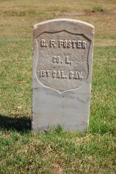 G.F FOSTER  CO. L.  1ST CAL. CAV