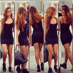 #rihanna ⭐ absolutely envying her style; from her half-head shaved hairstyle to her blacked out chucks ❤