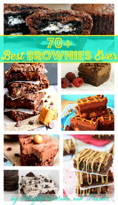70+ Best Ever Brownie Recipes by DelightfulEMade.com @Erin {Delightful E Made} #brownies #roundup