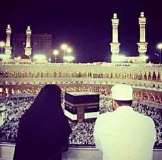 Muslim couple in Makkah