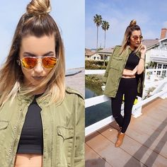 "Wearing @forever21 Military Jacket + @hm Crop Top and SunGlasses  Jeggings: @ikrushcom AVILA HIGH WAIST JEGGINGS IN BLACK Apply Coupon Code ""Bilintina10"" to get 10% off on your order Photo Credit @mrtndamex // #ootd #morphebrushes  #Palafoxxiamakeup #lillyghalichi #lookamillion #batalash #iluvsarahii #wakeupandmakeup #beat #doseofcolors #lagirlcosmetics  #kilprity #mac_daddy #desiperkins #inssta_makeup #sohollywood #lustrelux #becca #illuminator #anastasiabeverlyhills #fashion #h"