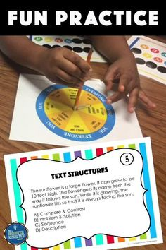 32 task cards, a spinner game, and a worksheet give students practice identifying the nonfiction text structures of cause and effect, compare and contrast, sequence, problem and solution, and description. Kids LOVE this game! Small Group Games, Small Group Reading, Small Groups, Response To Intervention, Text Structures, Learning Games For Kids, Cause And Effect, Compare And Contrast, Problem And Solution