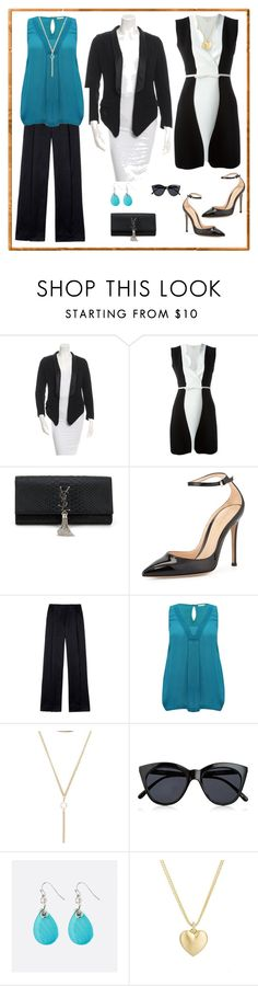 """ropa para cuerpo ovalado"" by johanna-monsalve on Polyvore featuring moda, Alexander Wang, Giambattista Valli, Yves Saint Laurent, Gianvito Rossi, M&Co, Le Specs, Avenue y Finn"