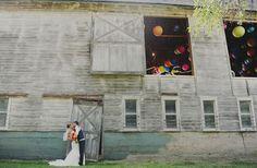 Neon Barn Wedding