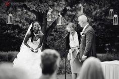 Wonderful moment caught at a May 2014 Brantwyn Mansion wedding ceremony in the lower garden. www.DupontCountryClub.com/weddings  Wedding Vendors used: Jennifer Childress Photography www.jennchildress.com | Synergetic Sounds & Lighting | Yukie | Allure Films
