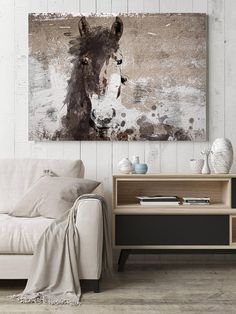 Running Wild Horse Extra Large Horse, Horse Wall Decor, Brown Rustic Horse, Large Contemporary Canvas Art Print up to by Irena Orlov Abstract Canvas, Canvas Art Prints, Canvas Wall Art, Abstract Horse Painting, Horse Paintings On Canvas, Wolf Painting, Art Paintings, Elephant Canvas Art, Wolf Canvas