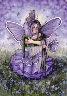 My Fairy-cards :: The Forget-me-not Fairy / Linda Peltola image by Kaheli_album - Photobucket