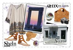 """Naxos island Greece !!!!!"" by giampourasjewel ❤ liked on Polyvore featuring York Wallcoverings, Loewe, Joie, Karen Kane, Packandgo, shein and greekislands"