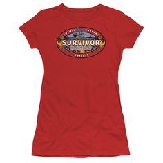 SURVIVOR COOK ISLANDS Juniors Sheer Cap Sleeve T-Shirt