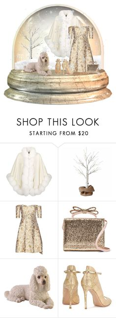 """Winter Wonderland"" by my-pretend-closet ❤ liked on Polyvore featuring Harrods, STELLA McCARTNEY, RED Valentino and Gianvito Rossi"