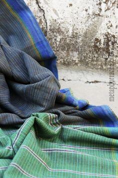 home-spun and handwoven #khadi saree .