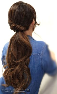 Gorgeous Twisted Long Ponytail