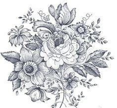 vintage floral design temporary tattoo