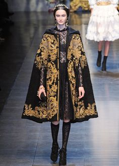 Another gold-and-black, gothic take on baroque from Dolce & Gabbanna