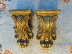 PAIR CURTAIN ROD SCONCES VINTAGE STYLE~ FRENCH~VINTAGE STYLE~PATINA #Cottage