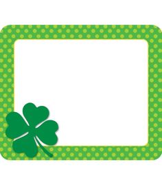 Label classroom items with St. Patrick's Day-themed name tags to celebrate the luckiest day of the year in fun, organized style! Let your students write their own names to personalize their things and practice spelling. St Patrick's Day Crafts, Preschool Crafts, Sant Patrick, Student Name Tags, Cubby Tags, Hello Sign, Knitting Machine Patterns, Activities For Teens, Diy Calendar
