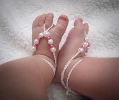 Baby Barefoot Sandals Crochet Barefoot Sandals by TheTrendyShoppe, $6.00