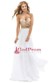 2014 Hot Selling A Line Prom Dress Sweetheart Beaded Bodice With Rhinestones USD 167.99 GODPFC2P9FH - GodProm.com for mobile
