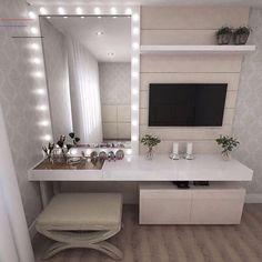 Ikea Bedroom Design, Girl Bedroom Designs, Home Room Design, Room Ideas Bedroom, Small Room Bedroom, Bedroom Decor, Bedroom Tv, Bedroom Furniture, Cute Room Decor