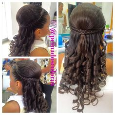 Hairstyles For Kids Videos Pigtail - Hairstyles Pigtail Hairstyles, Baby Girl Hairstyles, Black Girls Hairstyles, Trendy Hairstyles, Braided Hairstyles, Wedding Hairstyles, Natural Hair Styles, Long Hair Styles, Girls Braids