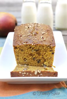 Whole Wheat Mango Bread with Pecans