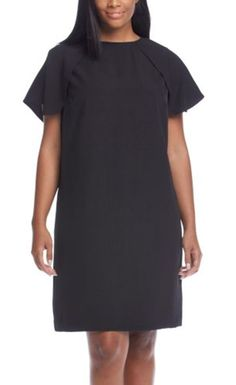 It's all about the capelet detail on this Calvin Klein LBD number.