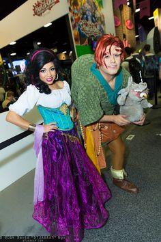 Esmeralda, Quasimodo, and Hugo cosplay | San Diego Comic-Con 2014 #dtjaaaam