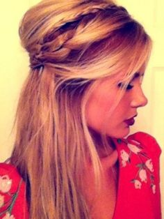 gorgeous half-up do'