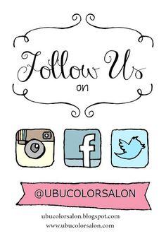 U B U COLOR SALON: follow us on all social media.