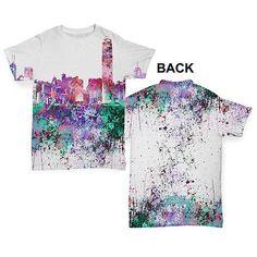 Hong Kong Skyline Ink Splats Baby Toddler ALL-OVER PRINT Baby T-shirt