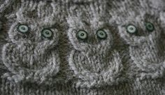 owl cable knit sweater pattern #knit